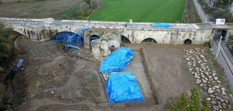 Justinianus Köprüsü'nde 2018 yılı arkeoloji kazıları tamamlandı