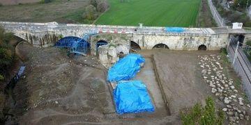 Justinianus Köprüsünde 2018 yılı arkeoloji kazıları tamamlandı