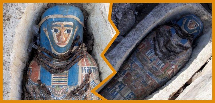 Mısır'ın Giza kentinde sekiz mumya bulunduğu açıklandı