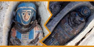 Mısırın Giza kentinde sekiz mumya bulunduğu açıklandı