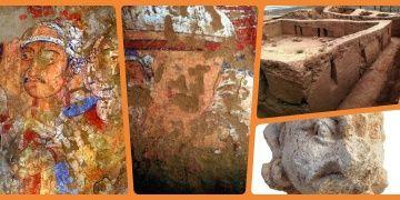 Özbekistandaki 1800 yıllık Budist duvar resmi doğu ve batı sentezi içeriyor