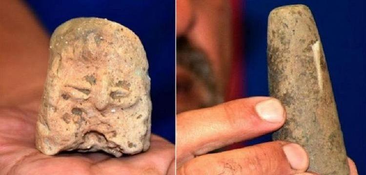Tuna Boylarında neolitik dönemden kalma heykel parçası bulundu