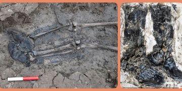 Arkeologlar Thames nehrinde 500 yıllık çizmeli iskelet buldular