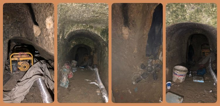 İstanbul Başakşehir'deki mağarada 4 defineci suçüstü yakalandı