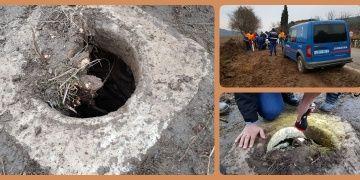 İzmirde yol çalışmasında tarihi mermer kuyu bulundu