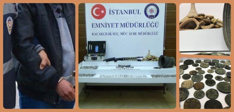 İstanbul'un 3 ilçesinde tarihi eser kaçakçısı ve defineci 8 kişi yakalandı