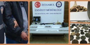 İstanbulun 3 ilçesinde tarihi eser kaçakçısı ve defineci 8 kişi yakalandı