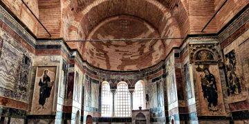 Kariye Müzesinin restore edilen Naos bölümü ziyarete açıldı