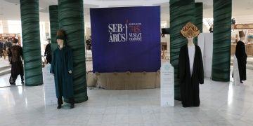 Selçuklu dönemi kıyafetleri sergisi Mevlana Kültür Merkezi Fuaye Alanında