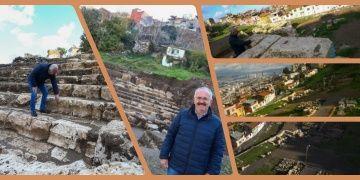 Arkeologlar antik Smyrna tiyatrosunun bir kısmını gün yüzüne çıkardı