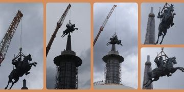 70 metrelik dev Köroğlu heykeli Boludaki Köroğlu Parkına dikildi