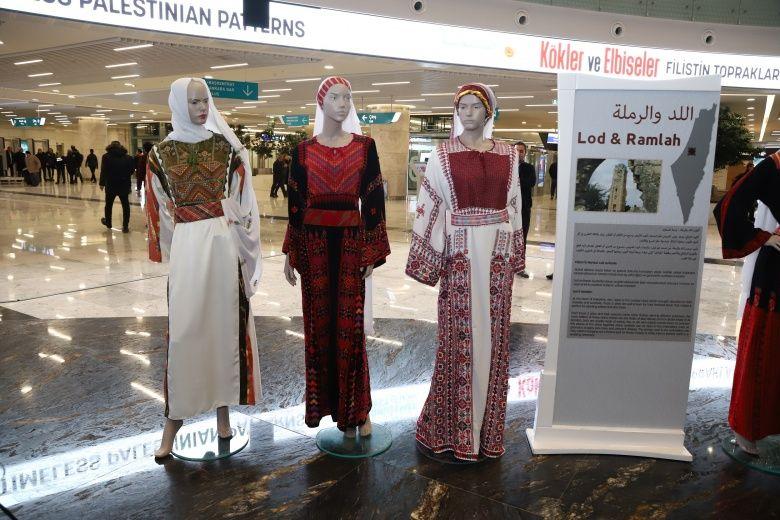 Filistin'in Geleneksel Elbiseleri ve yöresel desenleri Ankara'da