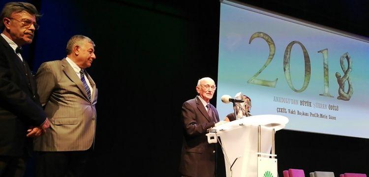 Prof. Dr. Metin Sözenin Anadoludan Büyük Şükran Ödülü törenindeki konuşması