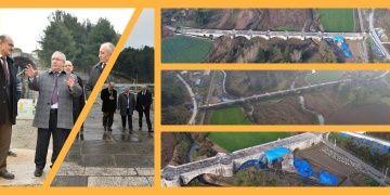 Sakarya Valisi Justinianus Köprüsündeki arkeoloji alanını inceledi