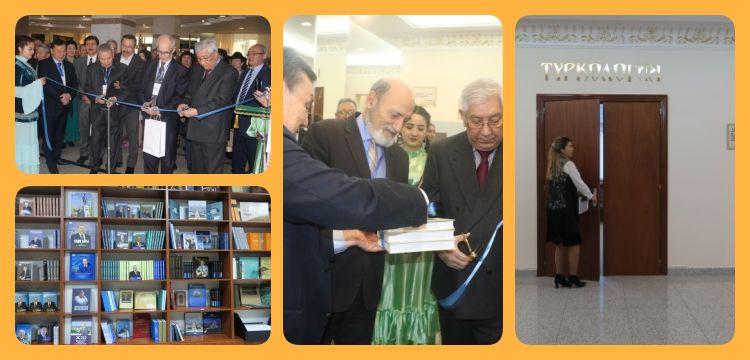 Kazakistan Milli Kütüphanesinde Türkoloji salonu açıldı