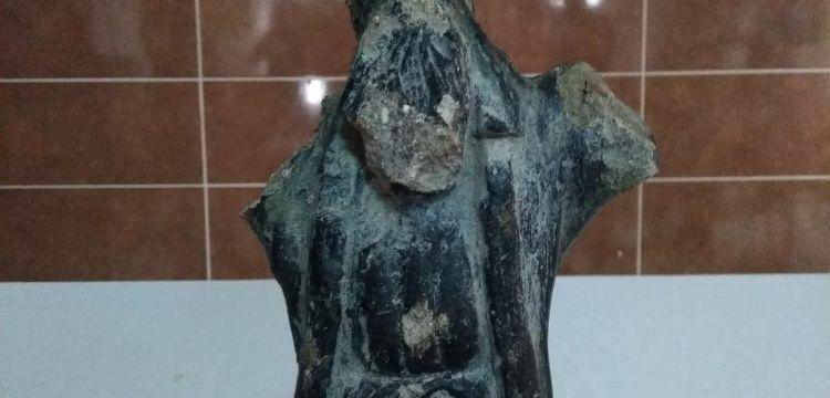 Eskişehir'de Roma dönemi heykel yakalandı
