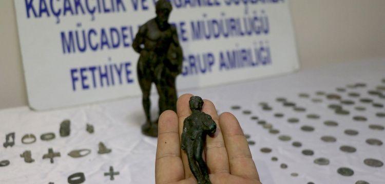 Fethiye'de 164 parça tarihi eser yakalandı