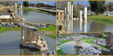 Side Antik Kenti sular altında kaldı