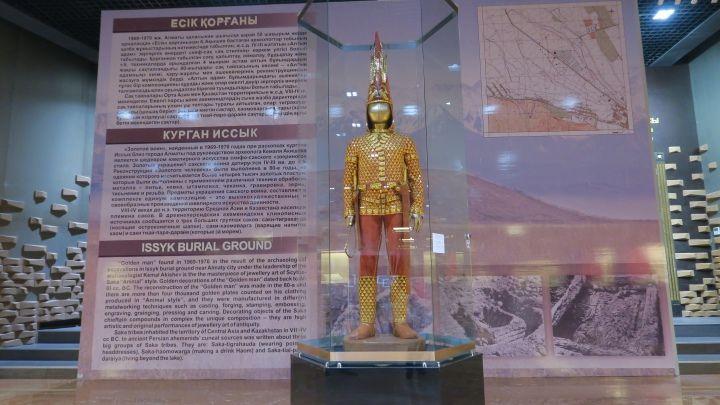 Kazakistan Milli Müzesinin yıldızı Altın Elbiseli Adam