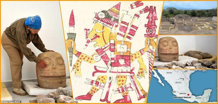 Azteklerin ölüm tanrısı Xipe Totec'e adadığı ilk tapınak bulundu