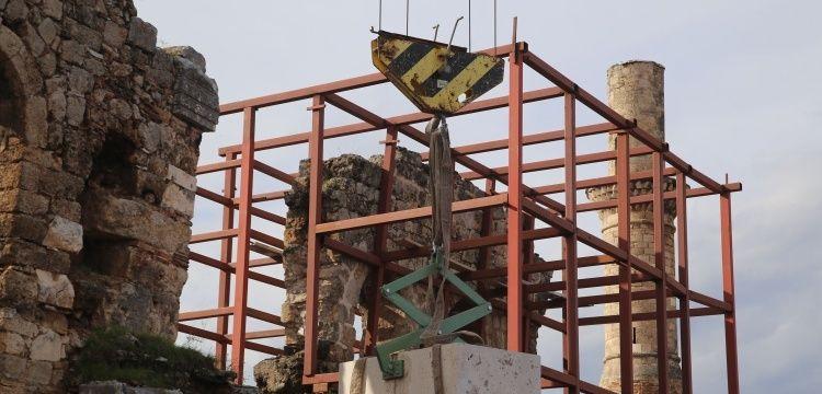 Kesik Minare'nin restorasyonuna ilk taşı Vali Münir Karaloğlu koydu