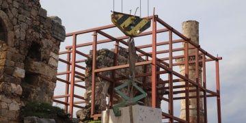 Kesik Minarenin restorasyonuna ilk taşı Vali Münir Karaloğlu koydu