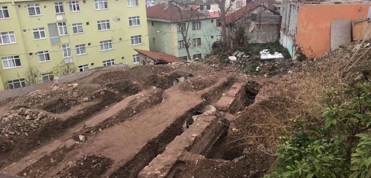 Kocaeli'nde Cedid sarnıcı yanındaki inşaatta tarihi kalıntılar bulundu