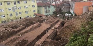 Kocaelinde Cedid sarnıcı yanındaki inşaatta tarihi kalıntılar bulundu
