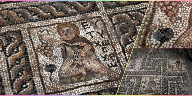 Osmaniyede bulunan 2 bin yıllık turplu mozaik yerinde sergilenecek