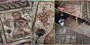 Turplu mozaik bulunan inşaat açık hava müzesi olacak