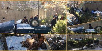 Yoldan çıkan otomobil Nevşehir Müzesi bahçesine düştü