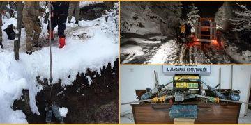Bir definecinin öldüğü tüneldeki kaçak kazı malzemeleri çıkarıldı