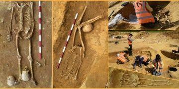 İngilteredeki gizemli mezarlıktan kafası koparılmış 17 iskelet çıktı