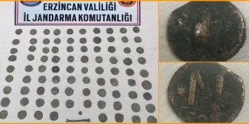 Erzincanda 89 tarihi sikke yakalandı