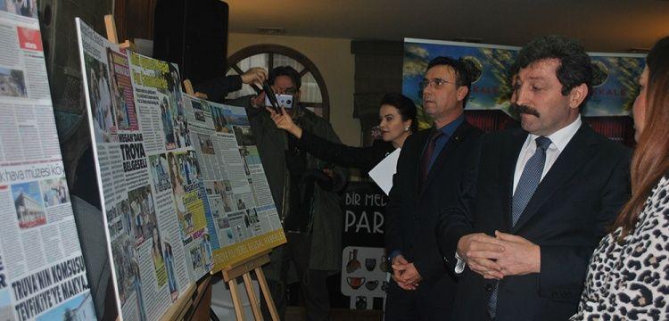 Çanakkale'de 2018 Troya yılı haberleri sergilendi