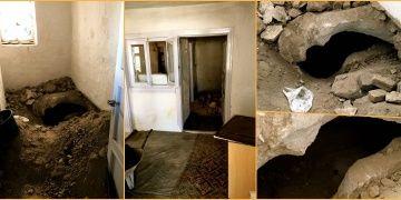 Arkeolojik sit alanında ev kiralayıp define aradılar
