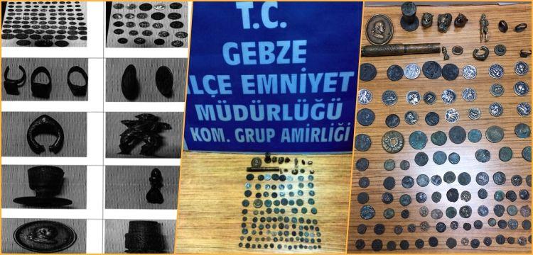 Kocaeli'de tarihi eser kaçakçılığı operasyonunda 3 kişi yakalandı