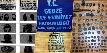Kocaelide tarihi eser kaçakçılığı operasyonunda 3 kişi yakalandı