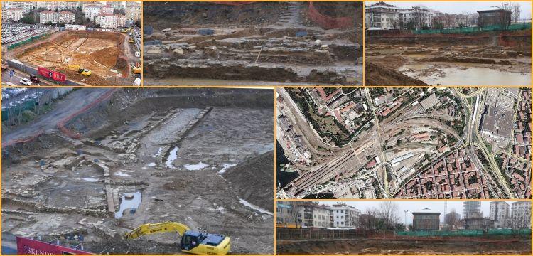 Kadıköy'de otel inşaatı kazısında arkeolojik kalıntılar bulundu