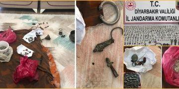 Diyarbakırda satılmak istenen 2328 adet tarihi eser yakalandı