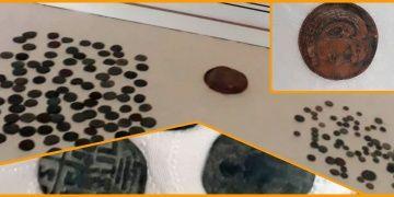Bitliste bir evde 167 tarihi sikke ve bir çömlek parçası yakalandı