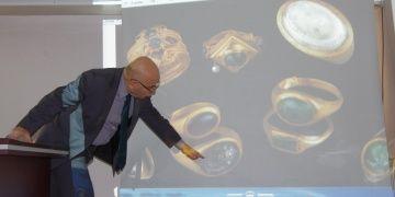 Yusufdere definesinin parçaları Ödemiş Müzesinde toplandı