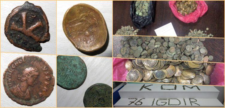Iğdır'da 2569 Bizans sikkesiyle yakalanan 5 kişi tutuklandı
