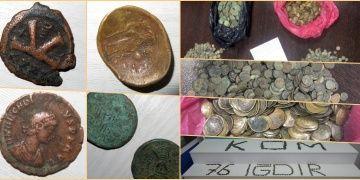 Iğdırda 2569 Bizans sikkesiyle yakalanan 5 kişi tutuklandı