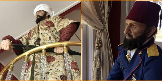 Fatih Sultan Mehmet ve 2inci Abdülhamidin elbiseleri yeniden üretildi
