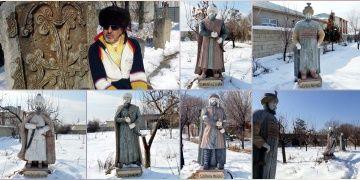 Vanlı işadamı babasının vasiyetiyle bahçeye 5 padişah heykeli dikti!