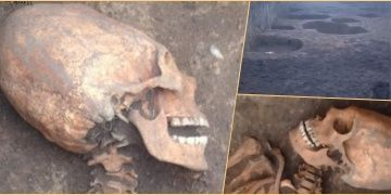 Kafkasyada uzun kafalı kadın iskeleti bulundu