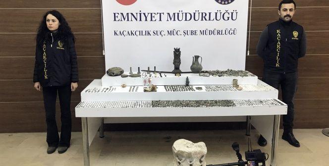 İstanbulun 11 ilçesinde yüzlerce tarihi eser yakalandı