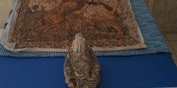Denizlide Buda heykeli ve Roma dönemi mozaiği yakalandı