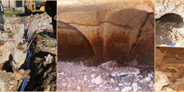 Şanlıurfada su şebekesi inşaatında Roma devri mezar odası bulundu